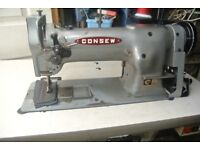 Consew Industrial Walking Foot Sewing Machine WITH PIPING FOOT, FOR UPHOLSTERY, BOUNCY CASTLES