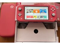 Nintendo Switch Lite Coral (Pink) with Cooking Mama