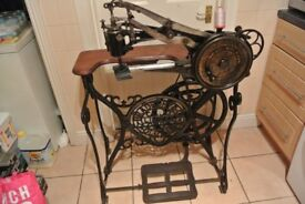 Bradbury A1 Cylinder Arm Patcher Industrial Machine (See 4 Layers Veg Tan Leather Cobbler Boot Maker
