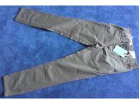 Next Slim fit 28R Khaki Mens Trousers