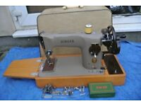 201K Singer Handcrank sewing machine ideal for leather, denim, canvas