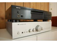 Cambridge Audio and Denon Stereo