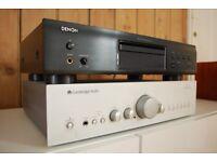 Cambridge Audio and Denon Stereo