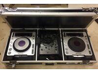 CDJ - 800 MK2 Mixing Decks and Mixer.