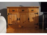 Pine Sideboard. Three drawer two cupboard in excellent condition.