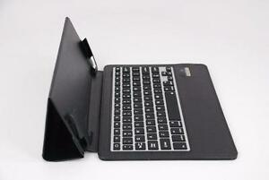 myBitti Leather Premium Slim Folio wireless Keyboard Case with silicon keys for Ipad Air -BLACk