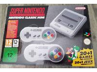 Brand New Never opened Super Nintendo Mini SNES Mini Console 2 controllers