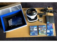 SONY PLAYSTATION VR PS4 HEADSET + 2 games (Driveclub VR + Rigs)