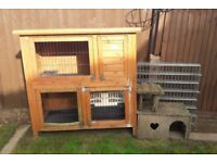 Used Rabbit/ Guinea Pig Hutch with Accessories.
