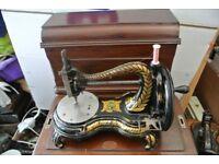 Vintage Jones Serpentine Swan Neck Sewing Machine,