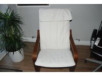 Ikea Poang chair with cream cover