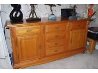 BARGAIN .extendable dining table with 4 chairs plus matching sideboard