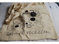 Linen Button shopping bag signed by Ian McKellan