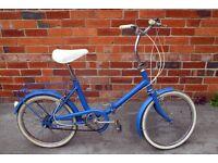 Raleigh 3 speed folding bike - retro 1980's