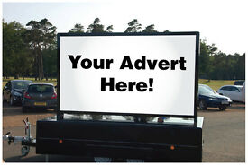 LED Illuminated Mobile Advertising Trailer with unique exclusive appearance and functionality.