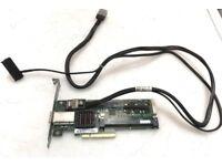 HP Smart Array P212 8-Port SAS RAID Controller PCIe 462594-001 with SAS cable 519767-001