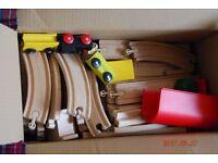 Ikea wooden train set