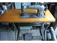 Singer 96K41 Industrial sewing Machine SEE 2 layers of leather sewn