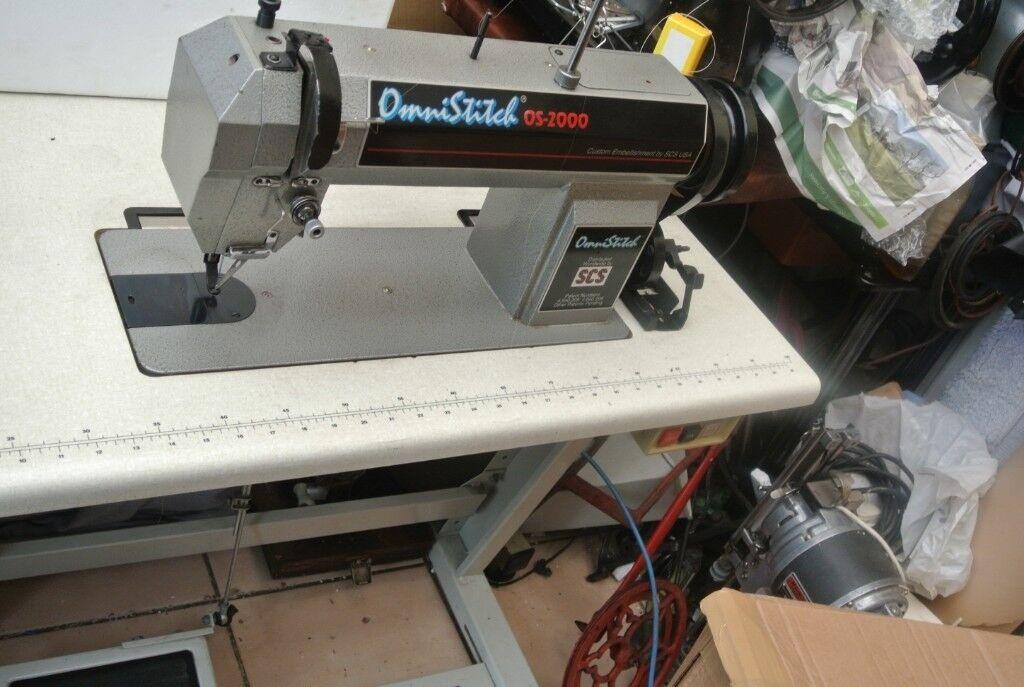 Omnistitch OS40 EmbroideryDarningEmellishment Industrial Sewing Interesting Darning Sewing Machine