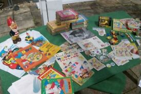 Noddy Books, the full set and a bunch of memorabilia