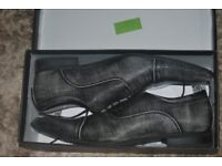 Smart Grey leather shoes