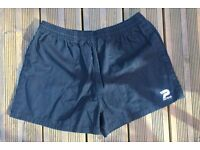Rugby shorts black 30-38in waist new