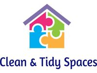 Clean & Tidy Spaces. A reliable and efficient service that provides the following: