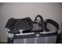 Graco Contour Travel Cot with baby changing unit