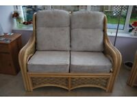 Cane conservatory furnitue 2 seater settee and two chairs