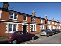 Guildford centre, light spacious part-furnished 1-bed 1st floor flat sun deck, near train stations .