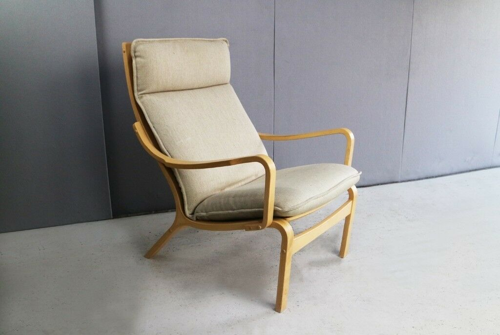 Danish 1970?s Bentwood Lounge Chair By Skippers Mobler