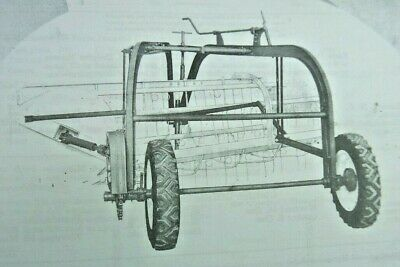Ih International Harvester Mccormick No 14 Side Delivery Hay Rake Farmall Cub