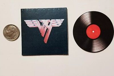 Miniature record album Barbie Gi Joe 1/6  Playscale  Van Halen Rock music