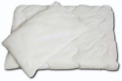 Baby Bettdecke 2-tlg. Set Steppdecke 135x100 cm und Kissen 60x40 cm Neu