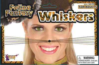 Animal Whiskers Cat Feline Fantasy Nose Fancy Dress Halloween Costume Accessory](Cat Whiskers Costume)