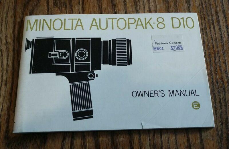 Genuine Minolta Autopak-8 D10 Owner
