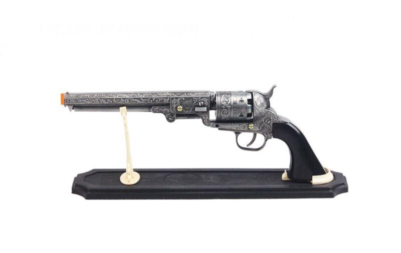 "Colt 1851 Navy Revolver Replica Pistol Prop Gun NON-FIRING Display w/ Stand 13"""