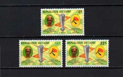 Belgisch Congo Belge - Rep. Zaïre n° 803/805 MNH Mobutu Sese Seko Ind. c12.00Eu