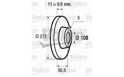 2x VALEO Front Brake Discs Solid 272mm For LADA NIVA 186172