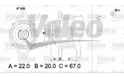 VALEO Alternador SUZUKI SAMURAI SWIFT SJ 437163