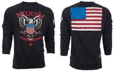 American Flag Sweatshirt (AFFLICTION Men Sweat Shirt LIVE FAST FREE American Custom USA Flag Biker UFC $74)