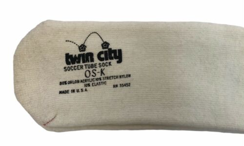 vintage twin city orlon soccer tube socks NOS deadstock 80s soft plush sexy NWOT