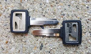 TWO Honda Key Blanks - Shadow, Rebel, Goldwing, CB, CBR, Hawk, Magna, Nighthawk