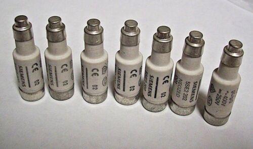 Qty. 7 Siemens  Neozed  Bottle Fuses  D01  5SE2 202  2A gL/gG  ~400V =250V  NEW