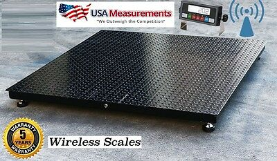 Wireless Floor Pallet Scale 60 X 60 5 X 5 5000 Lb No Cables