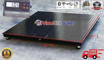 5 Year Warranty 5000 Lb X 1lb 40x40 Floor Scale Pallet Warehouse Industrial