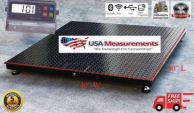5 Year Warranty 1000 Lb X .2lb 40x40 Floor Scale Pallet Warehouse Industrial