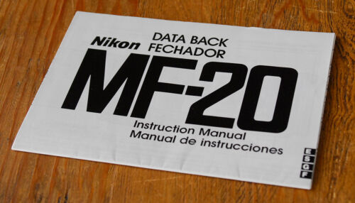 Nikon MF-20 Data Back Instruction Manual - original OEM MF20