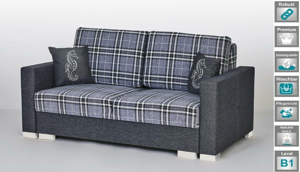Schlafsofa Couch mit Schlaffunktion Lounge