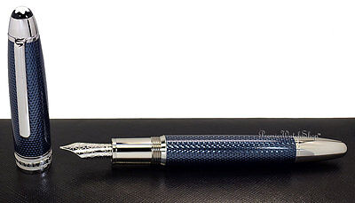 NEW Mont Blanc Meisterstuck Solitaire Blue Hour LeGrand Fountain Pen (M) 112889